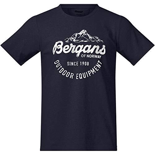Bergans Classic T-Shirt Homme, Dark Navy/White Modèle S 2019 T-Shirt Manches Courtes