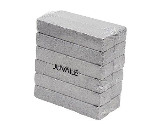 Juvale Bimsstein (Set, 12 Stück) - Ideal zum Reinigen, Putzen von Küche, Bad, Toilette, Grillrost, Töpfen sowie für Hand- und Fußpflege - Grau, 15 cm x 3,5 cm x 2,3 cm