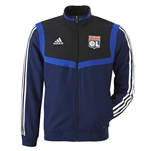 Olympique Lyonnais Veste de survêtement Adulte Bleu Marine Adidas 19/20 (M)
