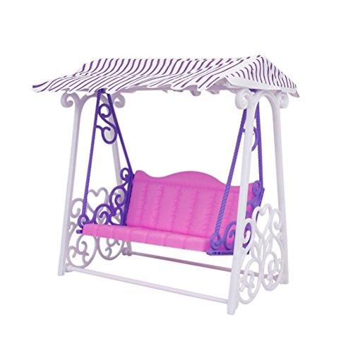 PIXNOR Barbie accessori giardino plastica Yard gioco altalena per bambole Barbie