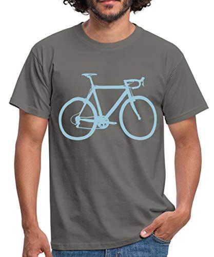Rennrad Profil Überhöhung Fahrrad Männer T-Shirt, S, Graphite