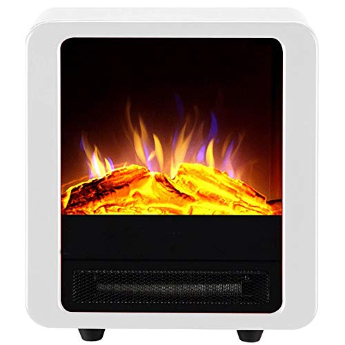 RKRGQ Electric Stove Fireplaces,Electric Fireplace Heater,Freestanding Electric Fireplace Heater with Realistic Flame Effect, Overheat Protection, 900/1800W
