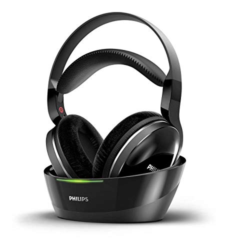PHILIPS Wireless Headphones for tv Watching, Over Ear Stereo Headset, High Resolution Home Cinema Sound Audio, 2.4GHz RF Transmitter, Wired Connection with Charging Dock