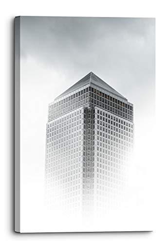 One Canadá Square London Rascacielos Niebla Lienzo Cuadro de pared Decoración del hogar