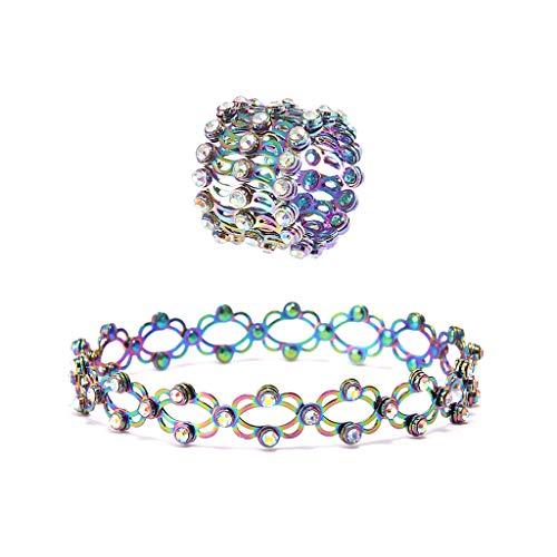 yasu7 2 en 1 pulsera de anillo retráctil mágica estirable Twist anillo plegable joyería