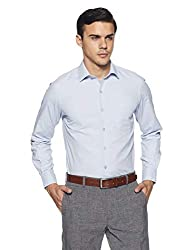 John Players Mens Solid Slim Fit Formal Shirt