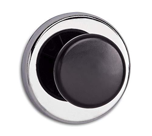 Maul 12 kg Haftkraft, 67 x 33 mm Kraft-Magnet mit Griffknopf, rund, Stahl/Kunststoff