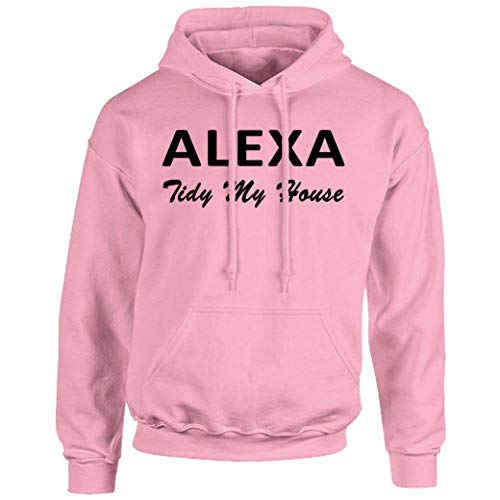 GPO Group Alexa Tidy My House Damen Kapuzenpullover, Alexa Tidy My House Merchandise, Rosa Kapuzenpullover, Pastellrosa Gr. M, pastellrosa