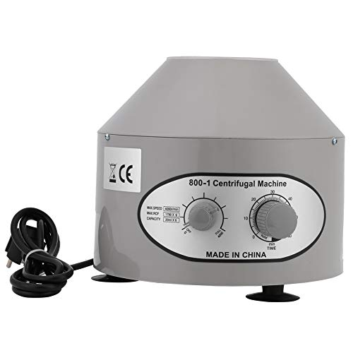 Cocoarm Centrifuga Laboratorio, Centrifuga da tavolo Nuova centrifuga elettrica a 220 V per laboratorio medico 4000rpm 6x20ml 22 x 24,5 x 11cm EU
