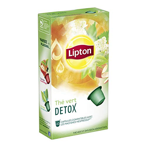 Lipton Thé Vert Détox Capsules Compatibles Nespresso Label Rainforest Alliance