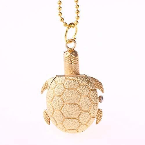 Tree-on-Life Art- und Weiseschildkröte-Form-Quarz-Taschen-Uhr-Weinlese-Frauen-Mann-Halsketten-hängende Unisexuhr-reizend Dekoration