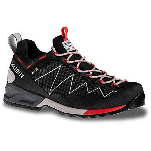 Dolomite Zapato Crodarossa Lite GTX, Scarpa Unisex-Adulto, Nero/Rosso Fuoco, 44 EU