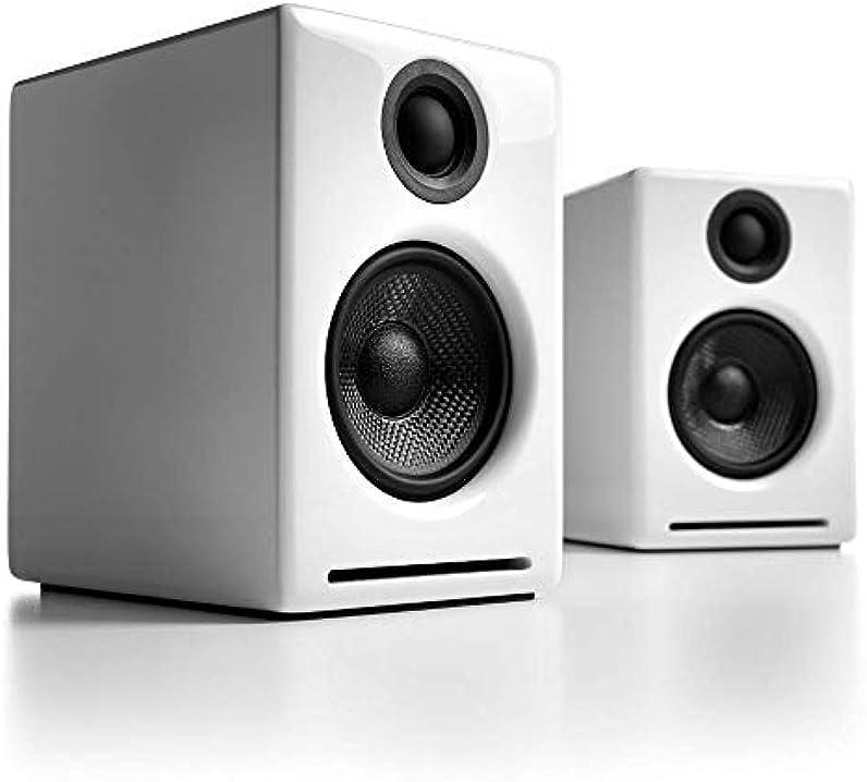 Casse bluetooth amplificate 60w   dac 24bit integrato e amplificatore audioengine a2+ A2+BT-WHT