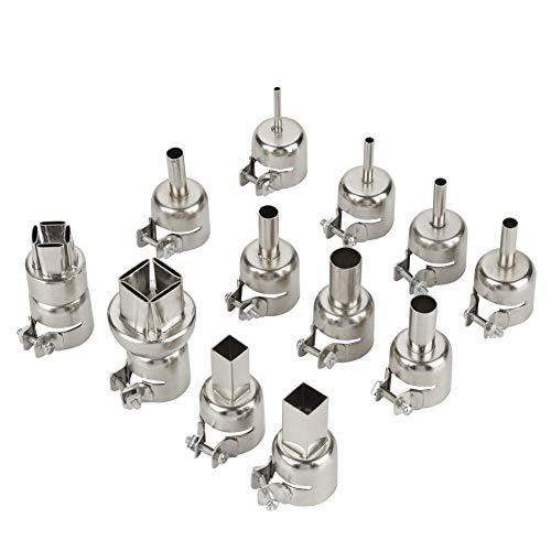 12 stücke Stahl Heißluftpistole Düsen Kit für 850 Heißluft Lötstation Repair Tool Zubehör - Hitzebeständig