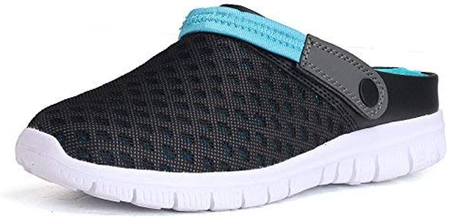 Gcanwea Unisex Mules & Clogs shoes Quick Drying Men Beach Slipper Women Breathable Outdoor Sneakers A Black US 7.5(CN 40)