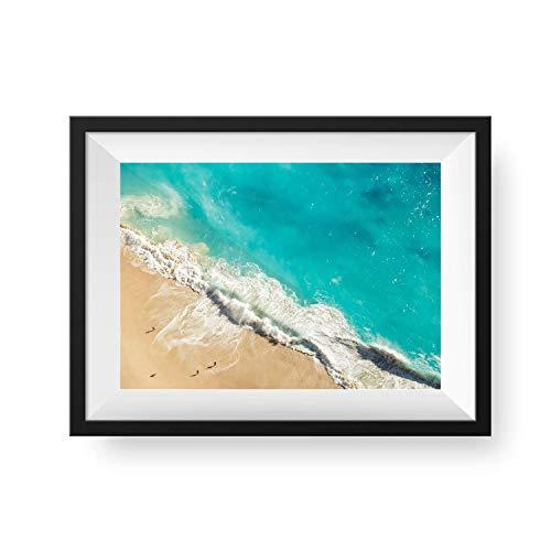Printique Wanddekoration, Aerial Ocean, modernes Kunst-Naturbild, ungerahmt, 28 x 36 cm