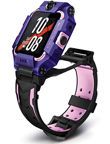 imoo Watch Phone Z6 Teléfono Reloj Inteligente para Niños, Teléfono de Reloj para Niños con Video, Reloj GPS para Niños con Localización Tiempo Real y Resistente al Agua para Nadar IPX8 (Púrpu