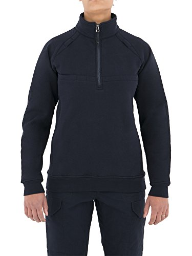 First Tactical Women's Cotton Job Quarter Zip Shirt, Midnight Navy, Small