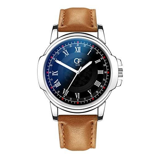 Armbanduhren Herren Quarzuhr,Evansamp 2020 Neue Luxusuhren Quarzuhr Edelstahl Casual Armbanduhr(D)