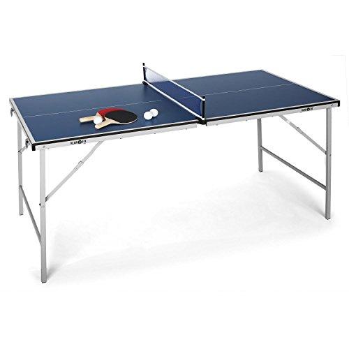 Klarfit King Pong Mesa de Ping-Pong Plegable (Recubrimiento Resistente a...
