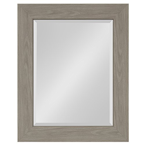 Kate and Laurel Boardwalk Framed Beveled Wall Mirror 24.5 x 30.5 inches, -