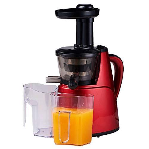 Wide Chute Slow Masticating Juice Extractor Kompakte Kaltpress-Entsafter-Maschine Whole Fruit Energy Extractor Leiser Motor & Reverse-Funktion Einfache Reinigung,Rot