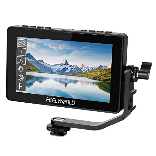 FEELWORLD FW-759 7 Slim HD Video Monitor IPS 1280x800 HDMI 1080p with Sunshade for BMPCC,for Canon Sony DSLR Camera