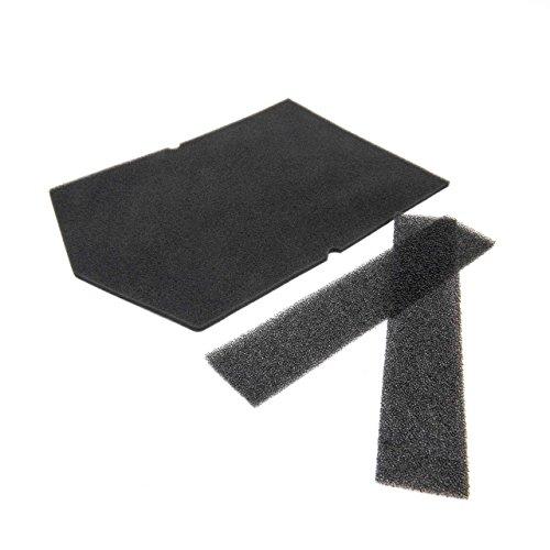 vhbw 3X Schaum-Filter für Trockner, Wärmetauscher wie Miele 9057930, 9688381