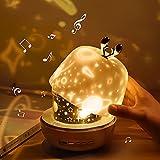 Luce Notturna del Proiettore per Bambini, Gemmac 3-in-1 Luce Notturna Funzionale con La Musica Starry Projector Light Proiettore Luce Notturna con Proiettore Telecomando per Neonati, Camera da Letto