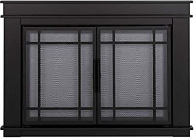 """Pleasant Hearth Fillmore Glass Firescreen, Width: 30""""-37"""", Height 22.5"""" - 29.5"""" from GHP Group, Inc"""