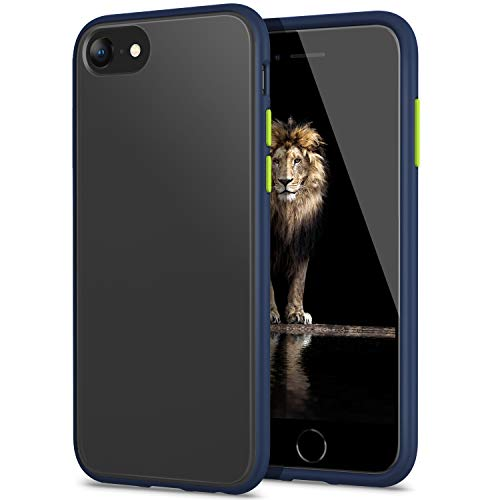 YATWIN Serie Antiurto, Compatibile per Cover iPhone SE 2020, Custodia per iPhone 7 e iPhone 8 Cover Antiurto Policarbonato e TPU, Anti-Graffio, Anche Compatibile con iPhone 7/8 4.7', Blu Navy