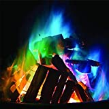 wumedy Multicolor Flame Powder Flame Dyeing Outdoor Bonfire Party Suppl Magic Kits & Accessories