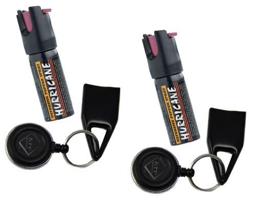 2er SET Pfefferspray Fast n Secure / Abwehrspray in schnellzieh Holster 360° Clip