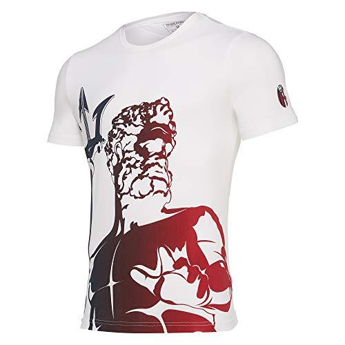 Bologna FC 1909 Bfc Merch Bj Tifoso Cottonpoly Bia SR T-Shirt pour Homme S Blanc