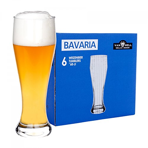 Set di 6 bicchieri da birra di frumento Bavaria 0,5 litri, calibrati