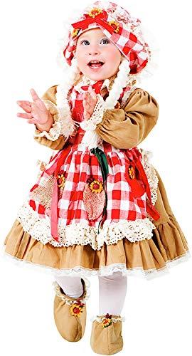 VENEZIANO Costume Carnevale da Bambola Dolly Vestito per neonata Bambina 0-3 Anni Travestimento Halloween Cosplay Festa Party 8937 3 Anni