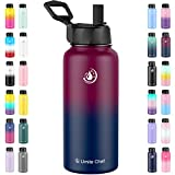 Umite Chef Water Bottle, Vacuum Insulated Wide Mouth Stainless-Steel Sports Water Bottle with New...