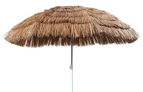 Spetebo Hawaii Strandschirm Ø 165cm - knickbar - Sonnenschirm Gartenschirm Balkonschirm
