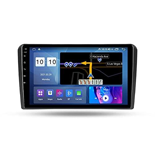 Auto Radio Bluetooth para Audi A3 8P S3 RS3 2003-2013 2 DIN Android Car Radio 9 '' Pantalla táctil 5G WiFi Plug and Play Soporte Carautoplay/GPS/Dab + / OBDII