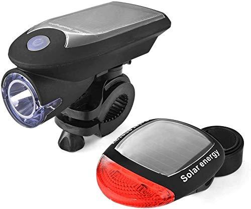 Mafiti Luz Bicicleta Recargable USB, Linterna Bicicleta Impermeable con Luz Bicicleta Delantera, Campana y Luz Trasera Bicicleta, Luz LED Bicicleta para Carretera y Montaña - Seguridad para la Noche