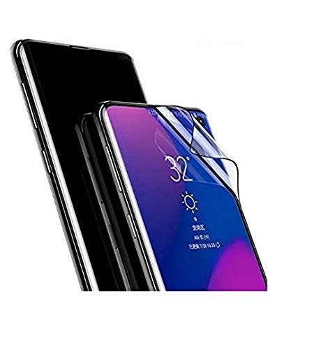 ISTAMBH® Flexible Fiber Edge To Edge 3D Screen Protector Oneplus 7 Pro Screen Guard Tempered Glass High Definition Ultra Thin Clear Screen Nano Guard Film (Not Glass) (Black) Designed For Oneplus 7 Pro