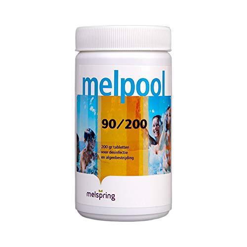 Melpool 90/200 - tabletten (1 kg) - Jacuzzi chloor - Zwembad chloor - Spabad chloor - Spa chloor - Jacuzzi producten - Jacuzzi onderhoudsproducten (1)