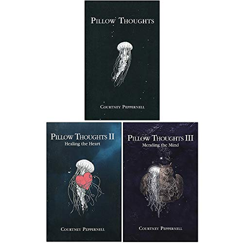 Price comparison product image Pillow Thoughts series Collection 3 Books Set By Courtney Peppernell (Pillow Thoughts,  Healing the Heart,  Mending the Mind)