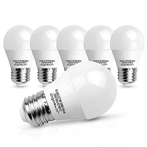 Aigostar - Bombilla LED E27 9W (Equivalente a 52W), Luz calida 3000K, 675 Lúmenes, CRI> 80, Ahorro de Energía, No Regulable - 5 Unidades