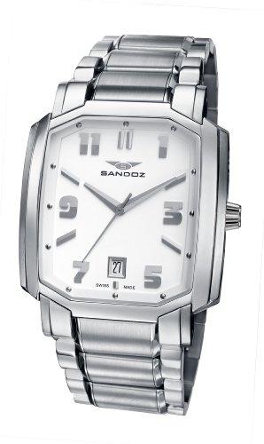 Sandoz 81301-00 – Reloj de Caballero de Cuarzo, Correa de Acero Inoxidable