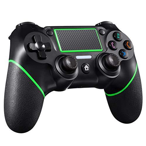 CHEREEKI Controller per PS4, Controller Gampad Wireless per Playstation 4/PS4 PRO/PS4 Slim con Touch Panel, Doppia Vibrazione, Giroscopio e Funzione Audio (Verde)