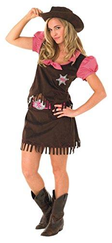 Rubbies - Disfraz de cowgirl para mujer, talla S (889507S)