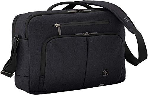 Wenger CityStream, Laptoptasche zum Umhängen, Notebook bis 16 Zoll, Tablet bis 10 Zoll, 21 l, Damen Herren, Büro Business Uni Schule, Schwarz
