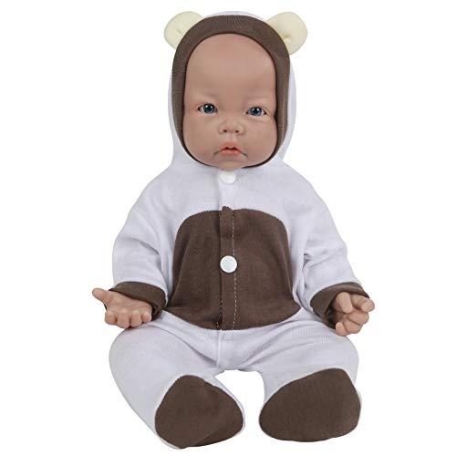 Vollence Poupées en Silicone 43 cm, poupées ne Contenant Pas de Vinyle, poupée réaliste de Naissance pour bébé, véritable poupée de bébé, poupée réaliste, poupée de Nouveau-né - Fille