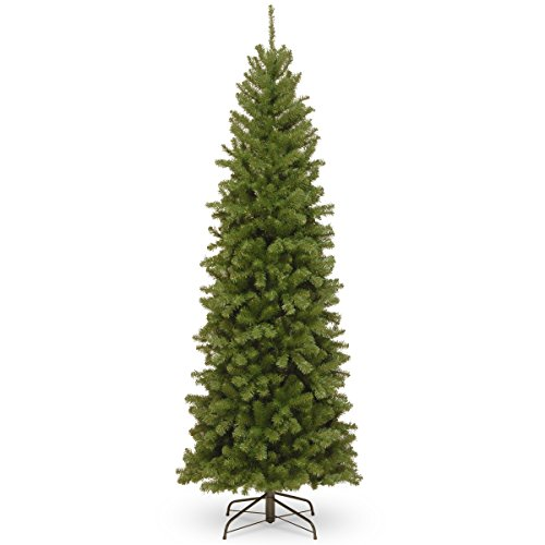 National Tree 7 Foot North Valley Spruce Pencil Slim Tree, 7 ft, 7 ft